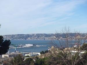 Vente T3  T3 récent Marseille 15 Eme Vue mer, résidence fermée avec terrasse et stationnement