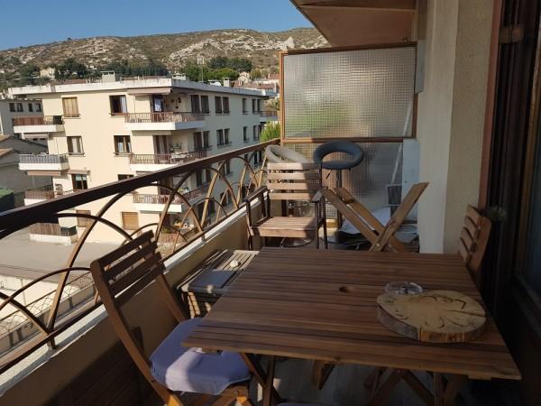 Vente apt t2 avec balcon et vue mer T2 13016 l'estaque